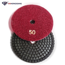 4 inch Diamond Flexible Floor Polishing Pads for Granite Marble Concrete