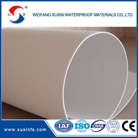 Professional Supplier!1.2mm/1.5mm/2mm reinforced PVC roofing membrane