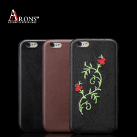 Luxury premium leather back cover leather case for iphone 6