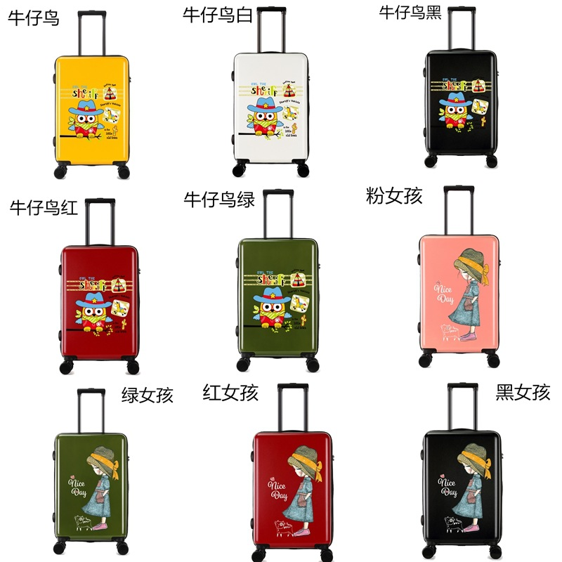 UK Flag Hard Shell Luggage, butterfly suitcase, low MOQ OEM printing luggage