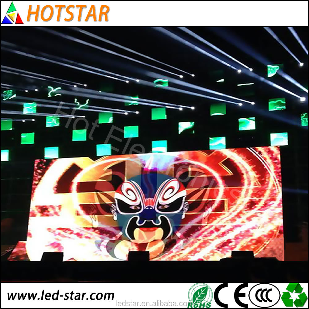 indoor hd small pixel pitch led screen dj for stage background p1.25