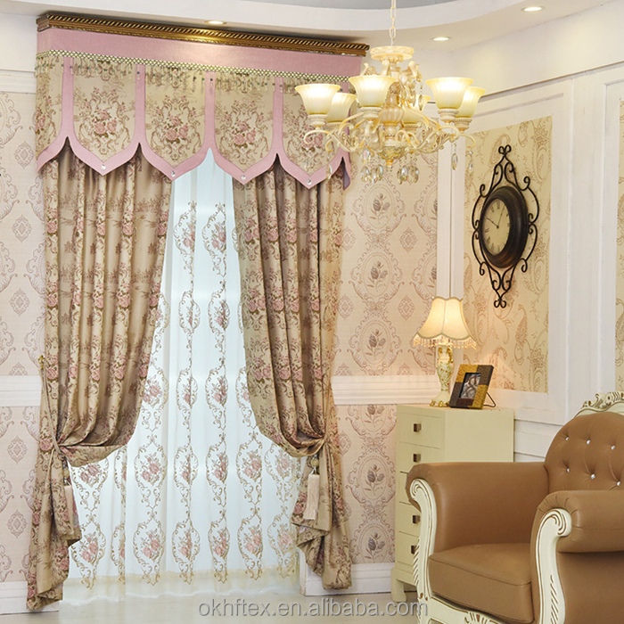 embroidered luxury drawstring macrame lace curtains