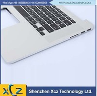 White 15.4'' notebook keyboard with topcase for mabook a1398