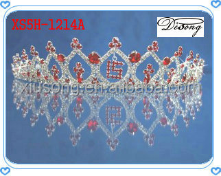 XS5H-1214 Wholesale Crystal Birthday Girl Crown, Cheap Tall Pageant Crown Tiara