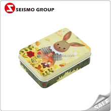 Printed Pattern Standard Size Tin Playing Cards Box