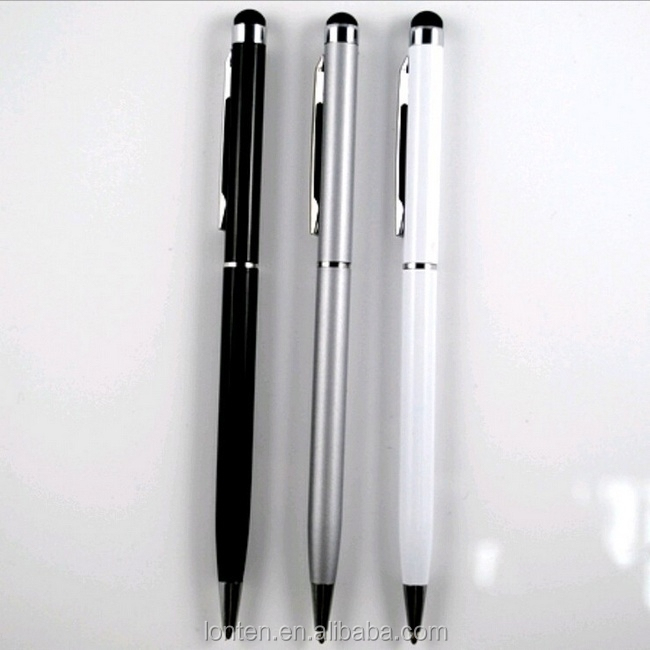 Hot sale 2-in-1 Touch Screen Stylus + Ballpoint <strong>Pen</strong> For IPad IPhone For IPod Tablet Smartphone