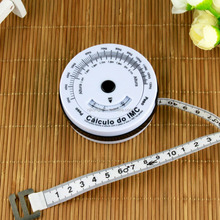 promotional products fiber measuring tape bmi calculator with body measuring