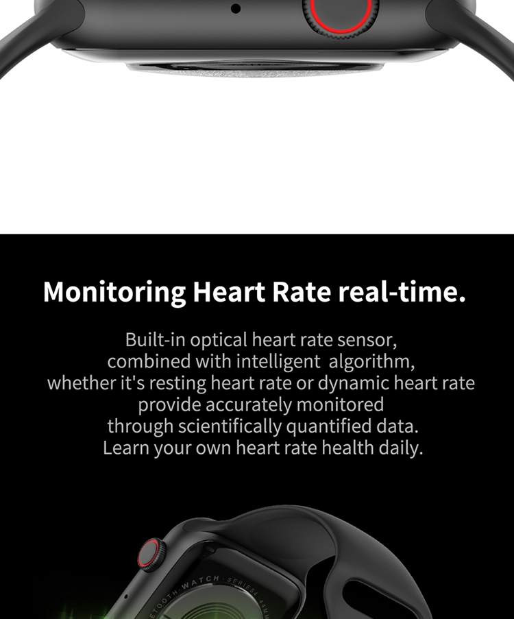 2.5 D Fox full capacitive touch screen Fashion smartwatch W34 sport ECG smart watch with heart rate monitor