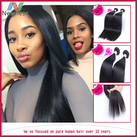Wholesale can be flat ironed or curled 7a virgin malaysian remy straight hair