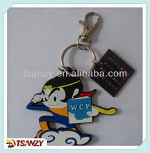 Custom soft PVC cartoon keychain/monkey king key chain