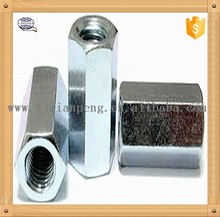hexagon coupling nut, length 10mm thread 6mm both