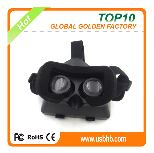 Golden manufacture wholesales lastest design 3D Virtual Reality Glasses free logo printing
