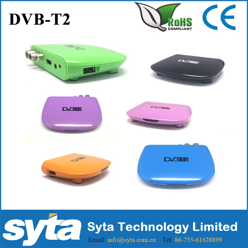 SYTA 2015 made in china mini dvb t2 plastic mpeg4 tv box for Russia S1023M8