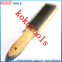 wooden handle needle cloth brush steel file cleaner
