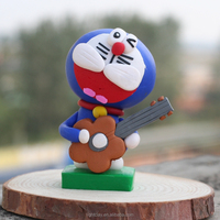 Lovely doraemon polymer clay handicrafts