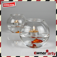 Wholesale Fancy Design Fish Tank Cylinder Candle Holders
