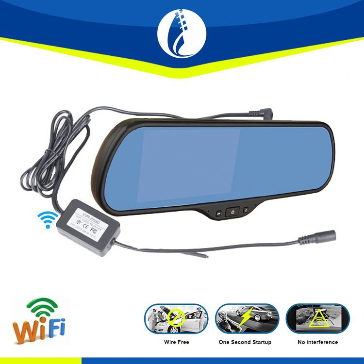 5 inch Rearview mirror Navigation / Wifi Back Camera / Android car rearview mirror camera dvr