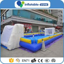 Inflatable football pitch for sports competition outdoor inflatable football throwing game mini inflatable soccer field
