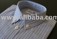Boys button down , long sleeve, with centre back pleat