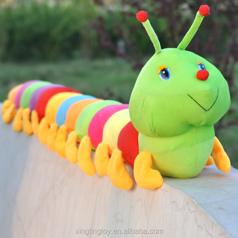 Custom soft stuffed plush worm soft toy wholesale plush insect toys