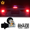lightpoint exclusive design high lumens 20W T25 3156 p27w led brake light with tail turn lights for car all in one