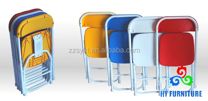 Colorful folding plastic chair children indoor and outdoor use