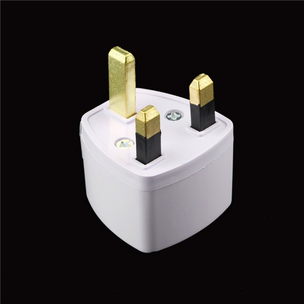 Universal Travel Adapter US AU EU to UK Plug Travel Wall AC Power Adapter 250V 10A Socket Converter White C1