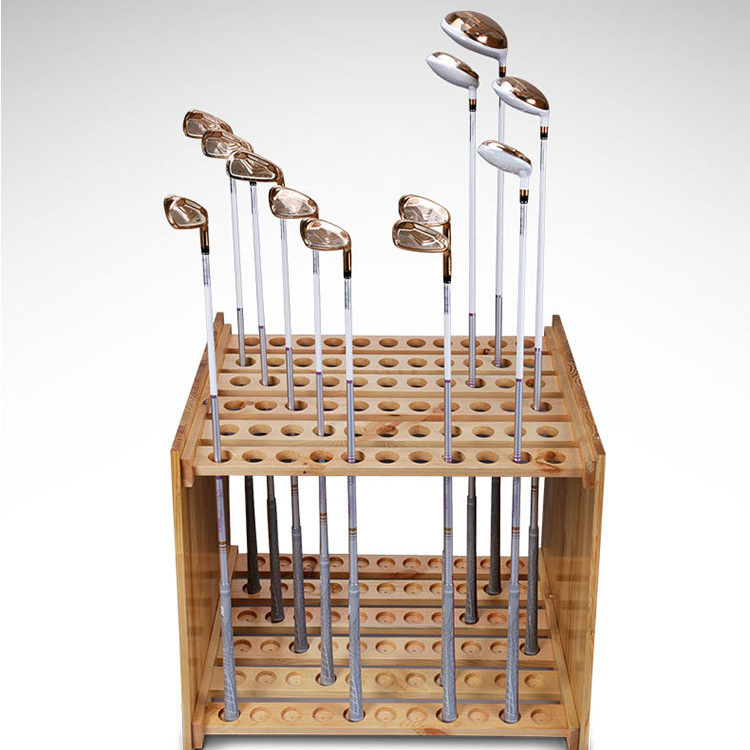 wooden display golf club holder stand wood material golf club rack