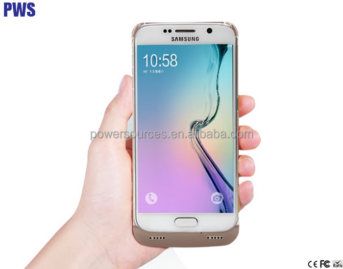 External Protective Charger Case Portable Backup Battery Pack Cover For Galaxy S6