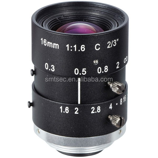 High resolution F1.4 10MP 1'' C Mount 16mm CCTV Lens/Machine vision lens