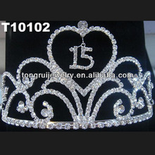 rhinestone happy birthday tiaras for kids