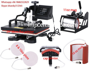 New design 6 in 1 cheapest heat press machine digital t for Cheapest t shirt printing machine