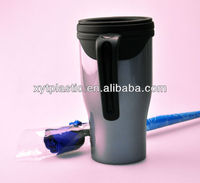 350ml plastic coffee mugs printing in dubai with push lid