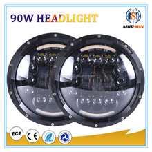 "7"" inch led projector headlight Motorcycles 7 inch Round Projector Led headlight Black for H-arley"