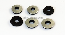 Metal wrapped rubber washers