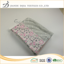 High quality patchwork prited baby blanket minky