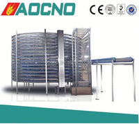 AOCNO spiral cooler feeding for rice bakery food cooler