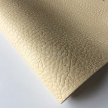China 100% polyester flock pu/pvc synthetic leather for shoe linling and notebook, pvc leather fabric manufacturer
