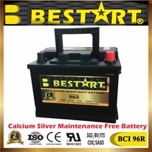 wholesale auto batteries 12V 60ah USA car battery BCI-96