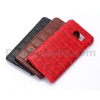 Crocodile Pattern Leather Coated Hard PC Cover for Samsung Galaxy for Note 5 Case N9200