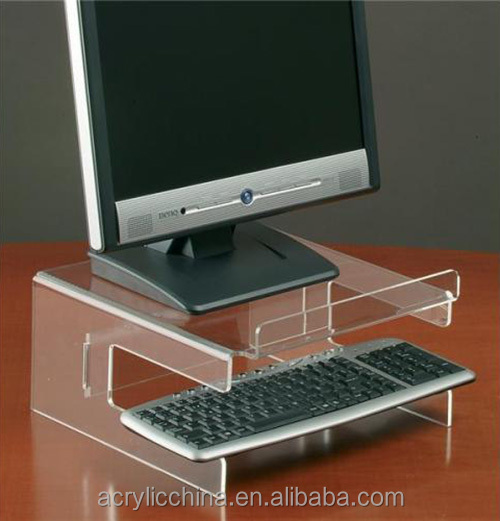Custom made high quality clear acrylic keyboard stand