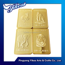 Manufacturer animals KING of Africa south africa 1 oz .9999 gold plated brass bullion bars