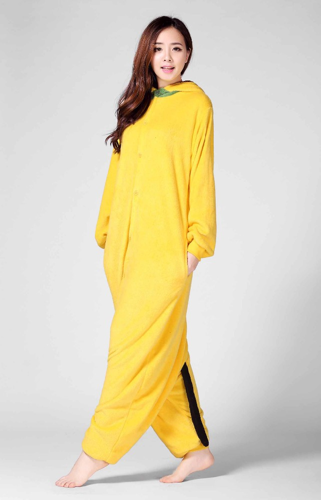 Fashion women 100 polyester yellow color sexy one piece pajamas