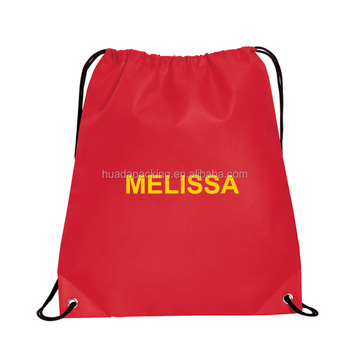 custom design logo printing190t nylon drawstring bag