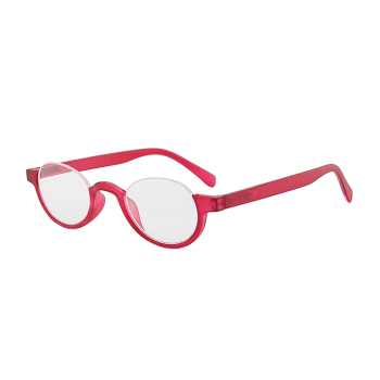 Unisex Portable Semi Rimless Reader Reading Glasses