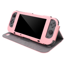 wholesale price leather case protector for 6.2 inch nintendo switch Case Stand Skin Flip Cover for Nintendo Switch