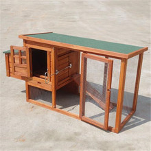 Wood Chicken Coop Hen House with Outdoor Run