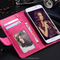 Hot Colorful Flip Leather Cover Stand Holder Photo Frame Card Slot Case for Samsung Galaxy S5 I9600 PU Leather RCD03814