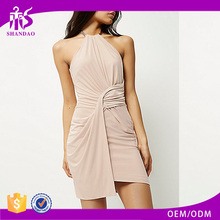 New Fashion Design Shandao Custom Women Sleeveless Slim Fit Pleated Front Prom Dresses 2016