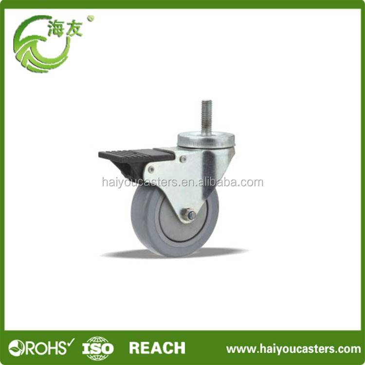 Abrasion-resistant plate medical caster , mining cart wheels